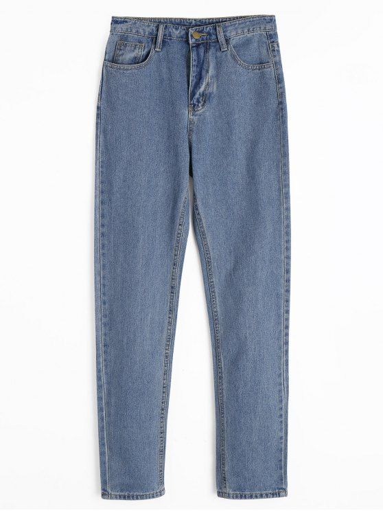 Shop for Zipper Fly Straight Jeans with Pockets DENIM BLUE: Jeans M at ZAFUL. Only $27.99 and free shipping!