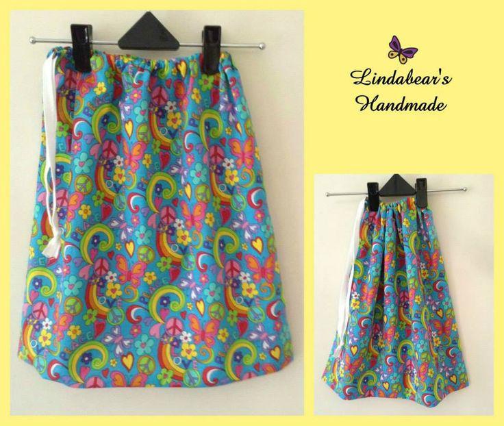 Handmade by Lindabears Handmade Groovy Drawstring Bag