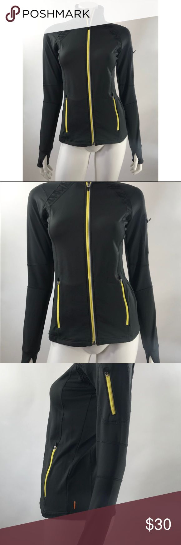 Lucy Activewear Jacket XS Gray Zip Up Long Sleeve Lucy Activewear Womens Jacket XS Gray Zip Up Long Sleeve Thumb Holes Athletic. Measurements: (in inches) Underarm to underarm: 16.5 Length: 24  Good, gently used condition Lucy Jackets & Coats