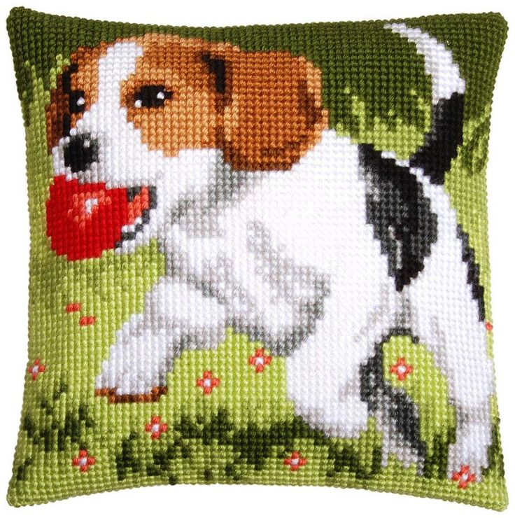 Vervaco® Beagle with Ball Pillow Cover Needlepoint Kit