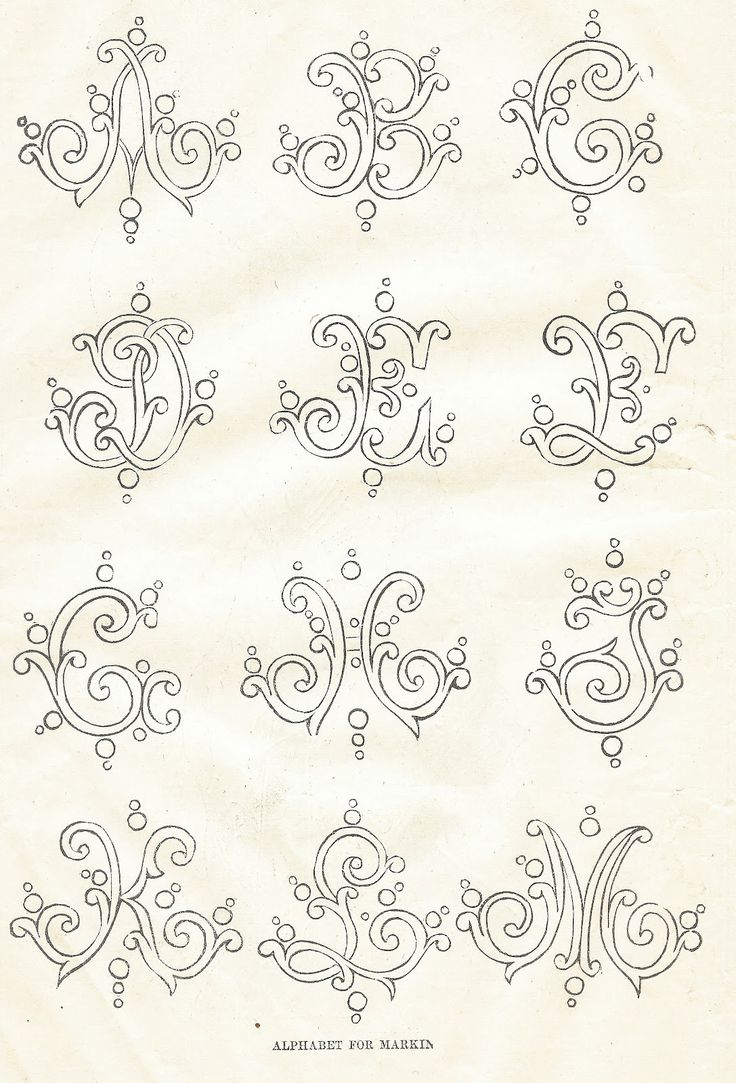 Three 1800's Alphabet Fonts