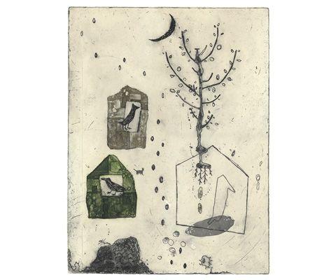 Etching by Kumi Obata