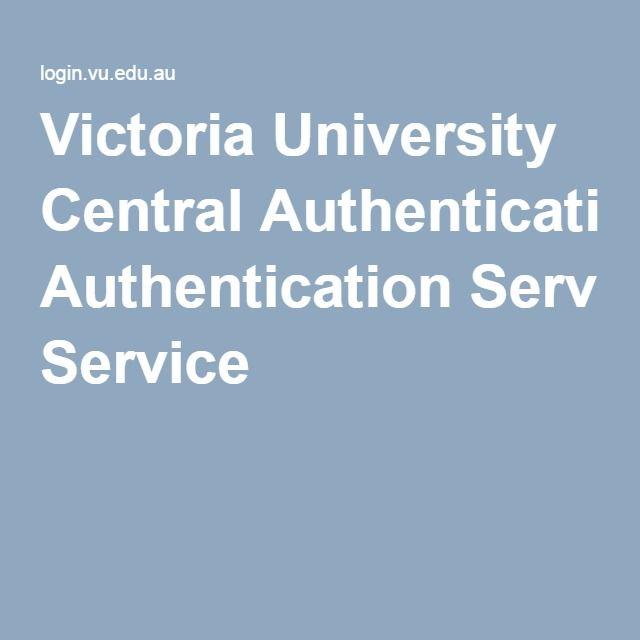 Victoria University Central Authentication Service