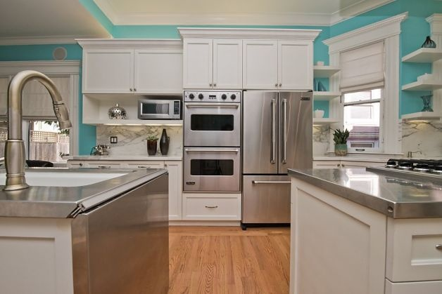 Hayes valley condo in victorian building for Dream kitchen appliances