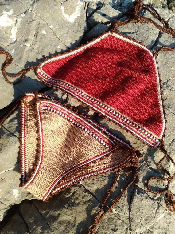 crochet bikini Sara   Crochet vintage bikini by GoodMoodCreations