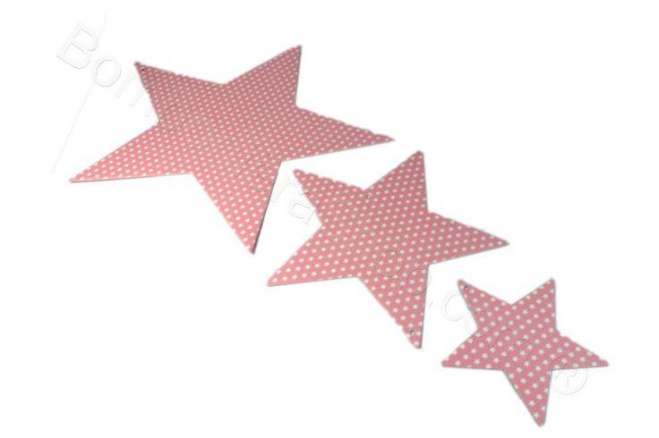 Tris Stelle rosa e decorazioni bianche