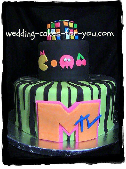 80s wedding cake an 80 s theme cake for a 30th birthday wedding cakes for 10512