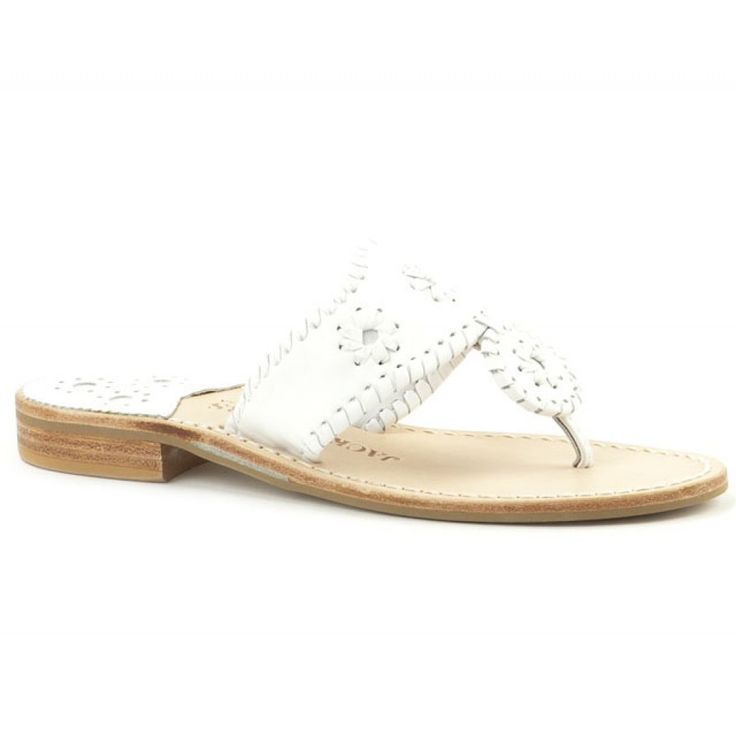 Palm Beach Navajo Sandal in White by Jack Rogers-$105