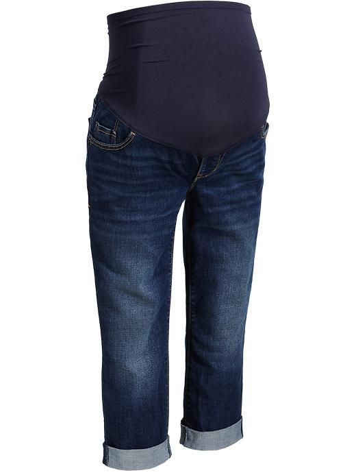 Old Navy | Maternity Smooth-Panel Denim Capris