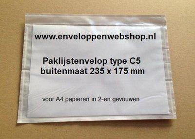 Paklijstenvelop voor A5 papieren http://www.enveloppenwebshop.nl/paklijst-enveloppen-C5