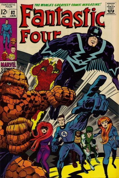 Fantastic Four #82. The Inhumans are back. Art: Jack Kirby.