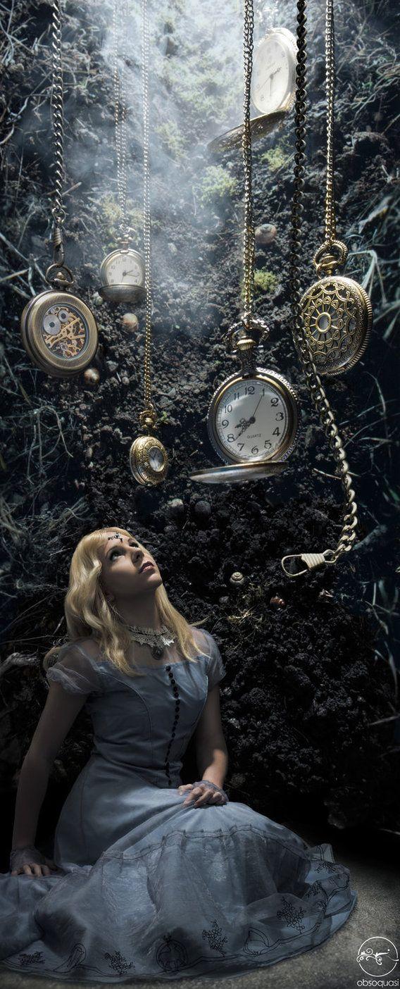 Down the rabbit hole (Photographer: John Flury Model / Cosplayer: Yvonne Gwerder. via by BlackWarsheep) [wonderland] [Alice]