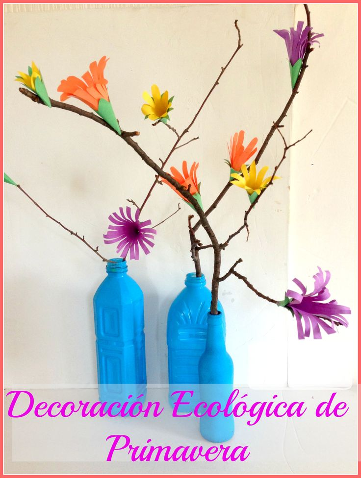 The 25 best decoracion con materiales reciclados ideas on for Decoracion primavera manualidades