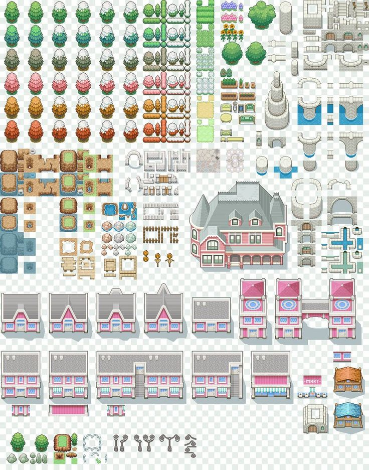9 Best Pokemon Tilesets Images On Pinterest Art
