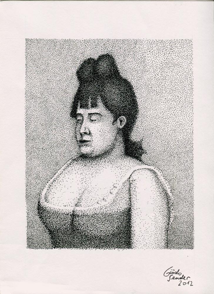 Seurat's young woman.