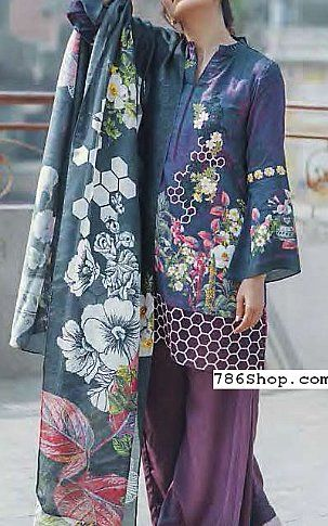 Blue Linen Suit | Buy Cross Stitch Pakistani Dresses and Clothing online in USA, UK