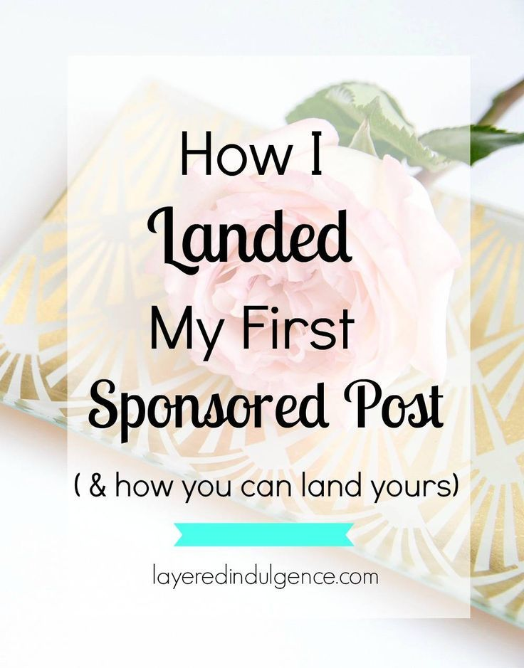 Are you a blogger who's looking to get sponsored posts? From posting genuine content, to photography tips, I'm letting you in on how I get brands to come to me for sponsored posts. If you want to start making money from your blog, and receive awesome free products, sponsored posts are a great way to do it! Click through to read about how to land your first sponsored post, or save this pin to read later!