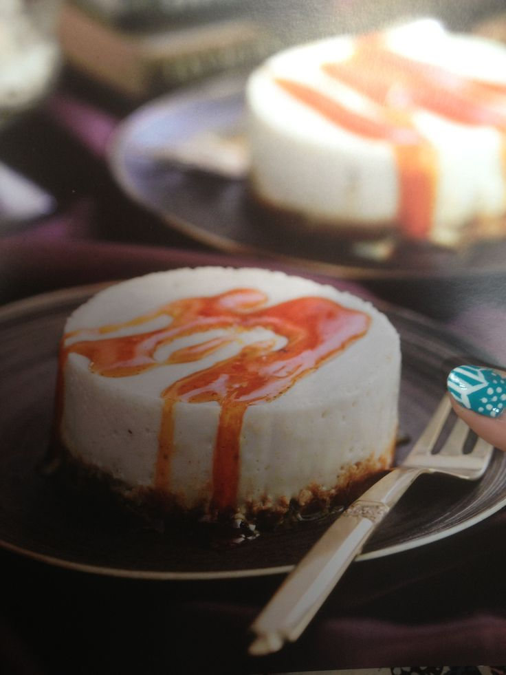Caramel cheese cakes Slimming world dessert 6 syns each