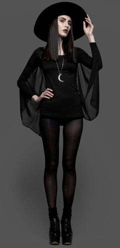 looks like a chic witch costume - How To Look Like A Witch For Halloween
