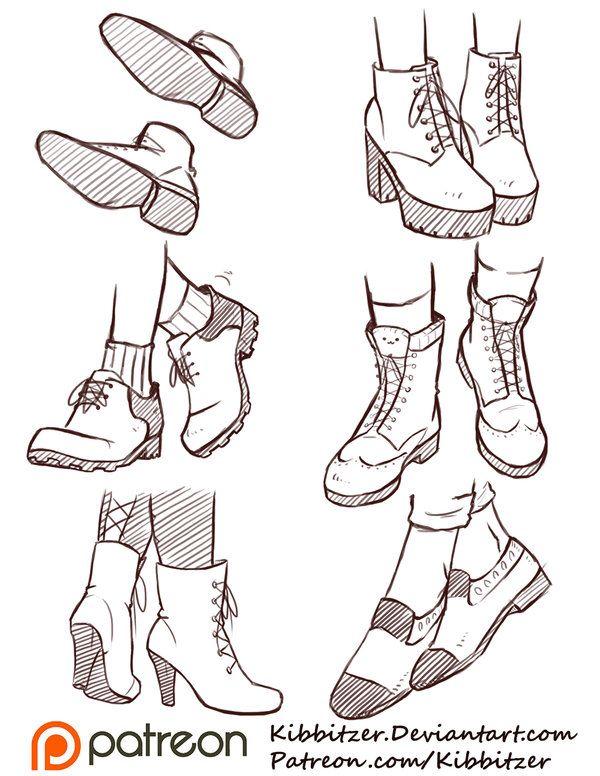 Shoes Reference Sheet 2 by Kibbitzer on @DeviantArt
