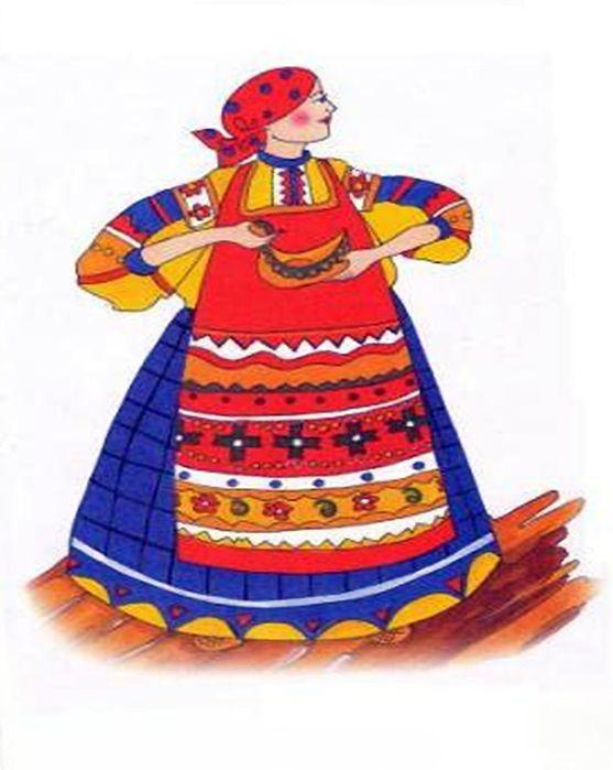 Русский костюм в открытках