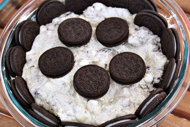 Oreo Fluff is the perfect quick desert to make for any potluck or BBQ!!! Oreo Fluff is always a huge hit at any get togetherwith kids and adults!
