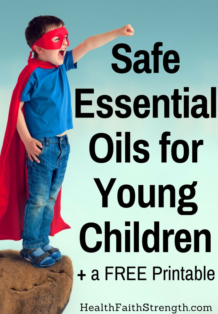 Essential oils have many benefits. But it's important to know which are best avoided and which are safe essential oils for young children. +a FREE Printable | HealthFaithStrength.com