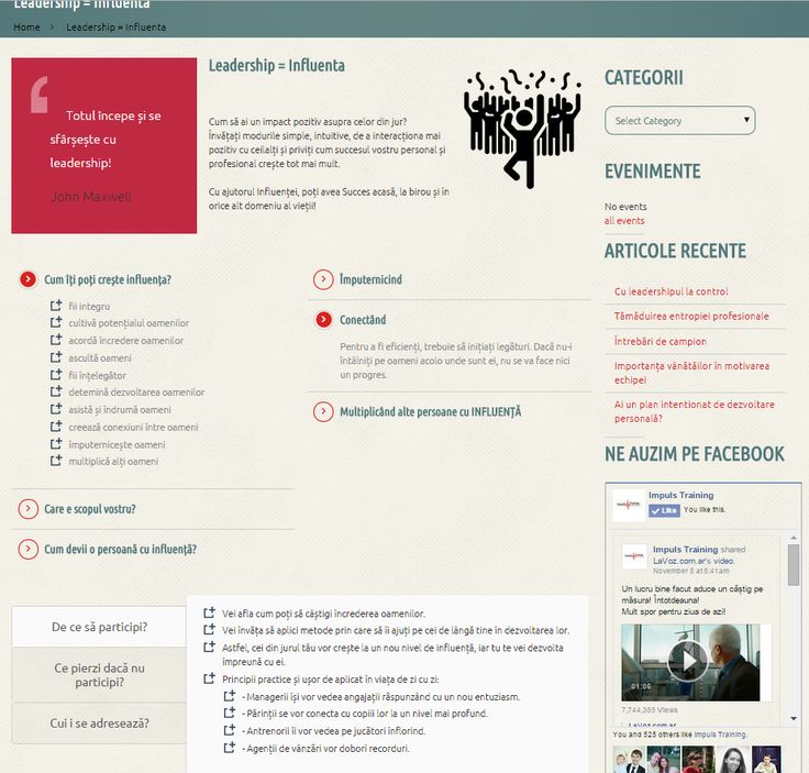 Creative layout for course presentation  http://impulstraining.ro/leadership-influenta/