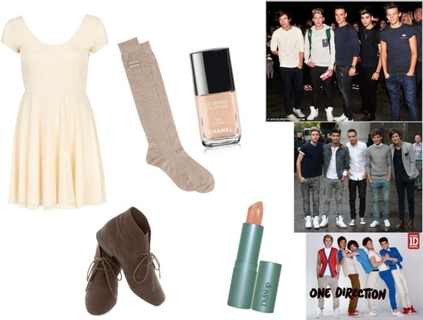 """A Night With One Direction"" by kyliecraig ❤ liked on Polyvore"