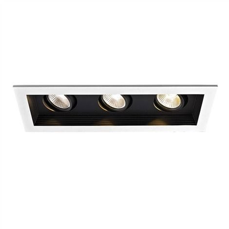 LED Remodel Non-IC 3-Light Miniature Multiple Recessed Spotlight