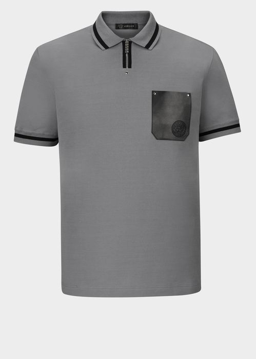 VERSACE Jacquard Collar Polo Shirt. #versace #cloth #jacquard collar polo shirt