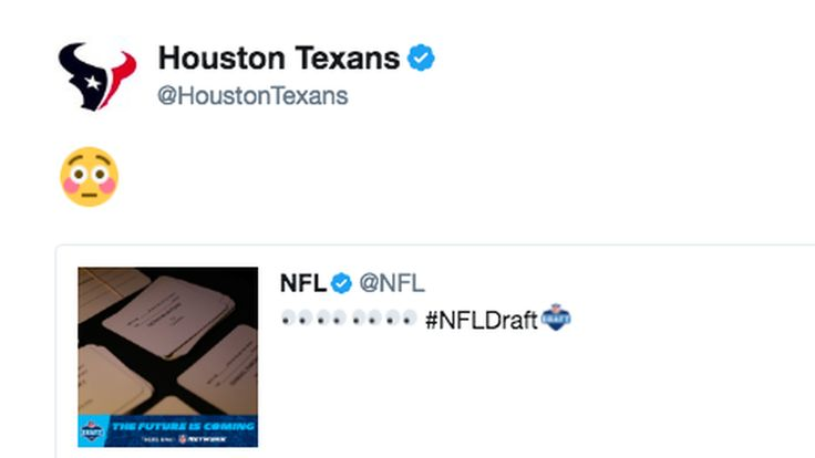The Texans teased their Deshaun Watson pick on Twitter 2 hours before making it