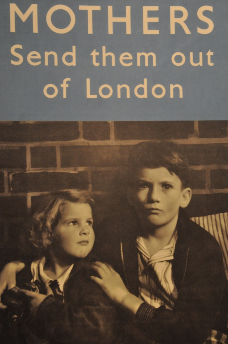 WWII UK poster encouraging mothers to cooperate with the evacuation program for children of London