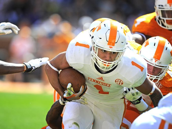 jalen hurd | Jalen Hurd (1) pushes through the line as the University of Tennessee ...