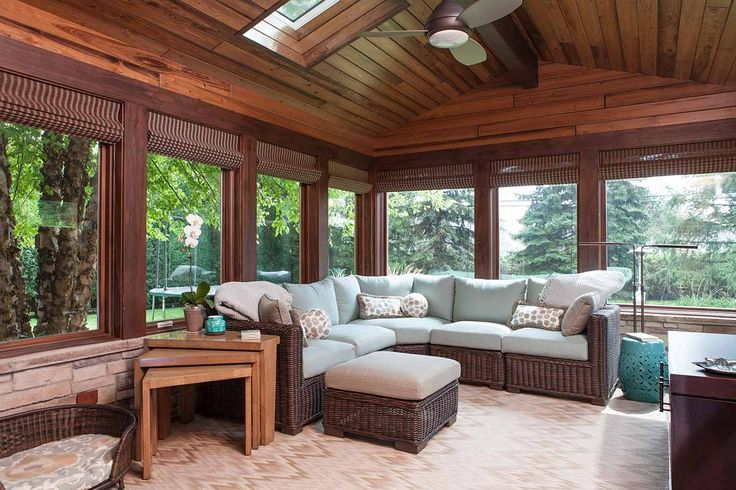 Sun Room - Buffalo Grove, Illinois - Michelle's Interiors