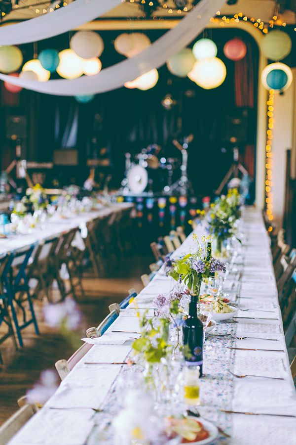 Elegant Wedding Reception Ideas Eclectic Colourful & Quirky Homemade Village Hall Wedding