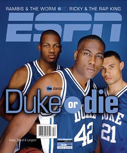 William Avery, Elton Brand, and Trajan Langdon... They lost a heartbreaker to Connecticut in the 1999 National Championship.
