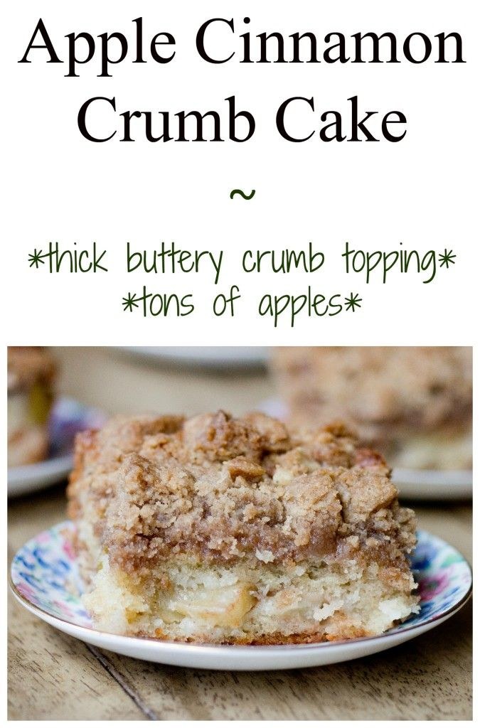 Apple Cinnamon Crumb Cake