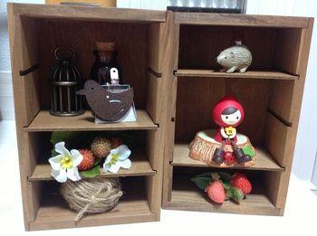 ☆いちごハウス☆:セリア☆インテリア木製仕切りケース
