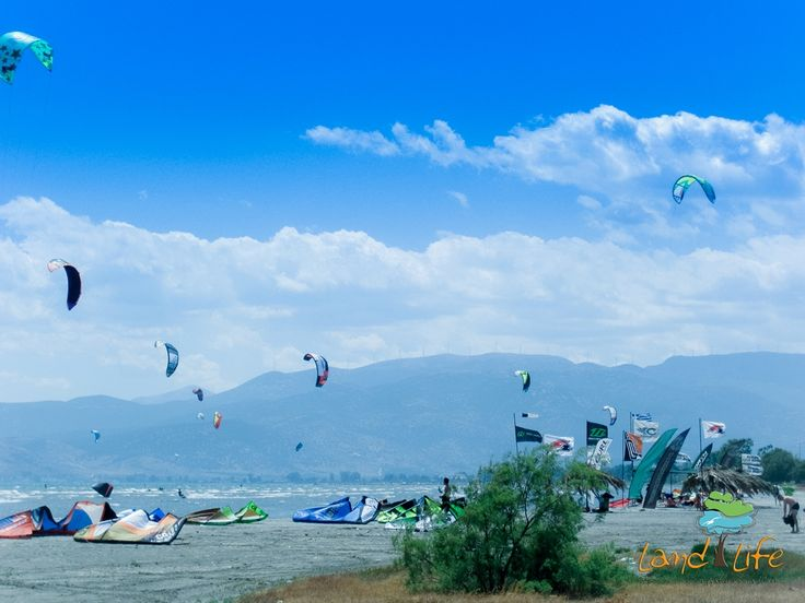 Hundrends of Kitesurfers visit the Argolic Gulf every year in order to utilize its unique weather contitions and enjoy this marvelous sport
