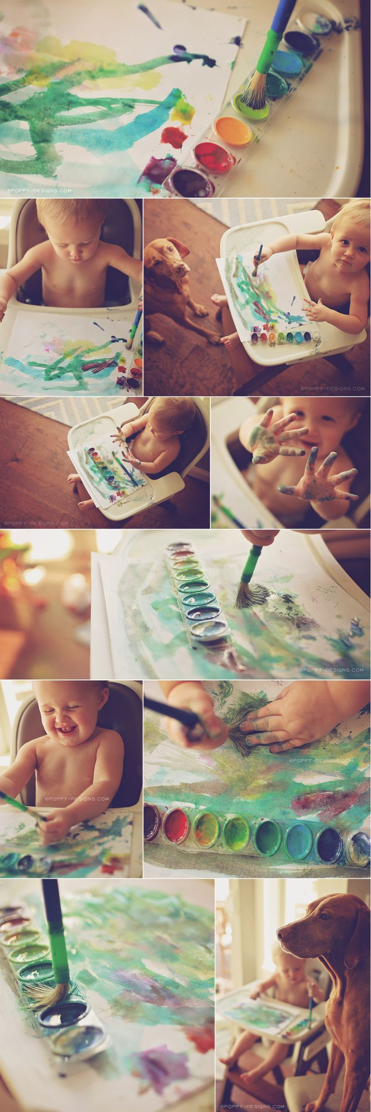 WATERCOLOR / Lifestyle Photography / Art /Child - capturing an everyday moment with genuine reactions
