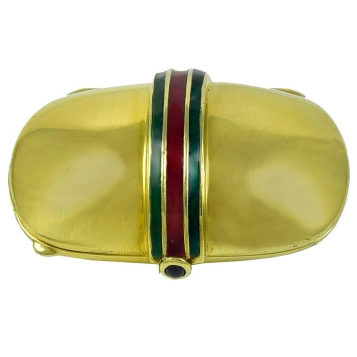 Enamel Gold Pill Box