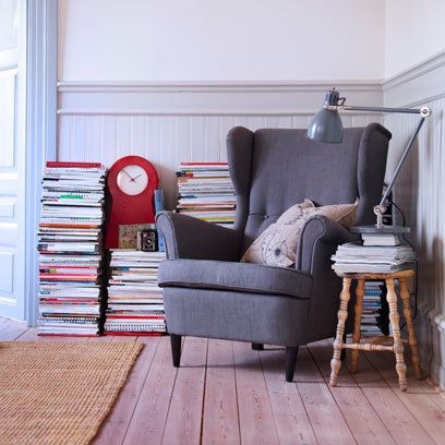 Grey upholstered armchair by Ikea   Armchair Ideas   Red Online