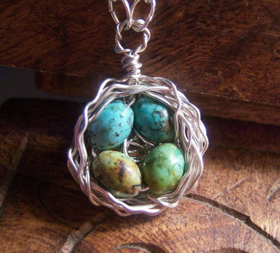 so cute: Eggs Wire, Robin Eggs, Speckled Eggs, Sterling Silver, Mothers Day Gift, Eggs Birds, Gift Earedgilt520, Birds Nests Necklaces, Eggs Robin