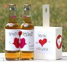 Mensaje de amor de san Valentin dentro de botella de vidrio ~ Mimundomanual