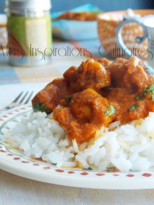 poulet indien korma au garam massala