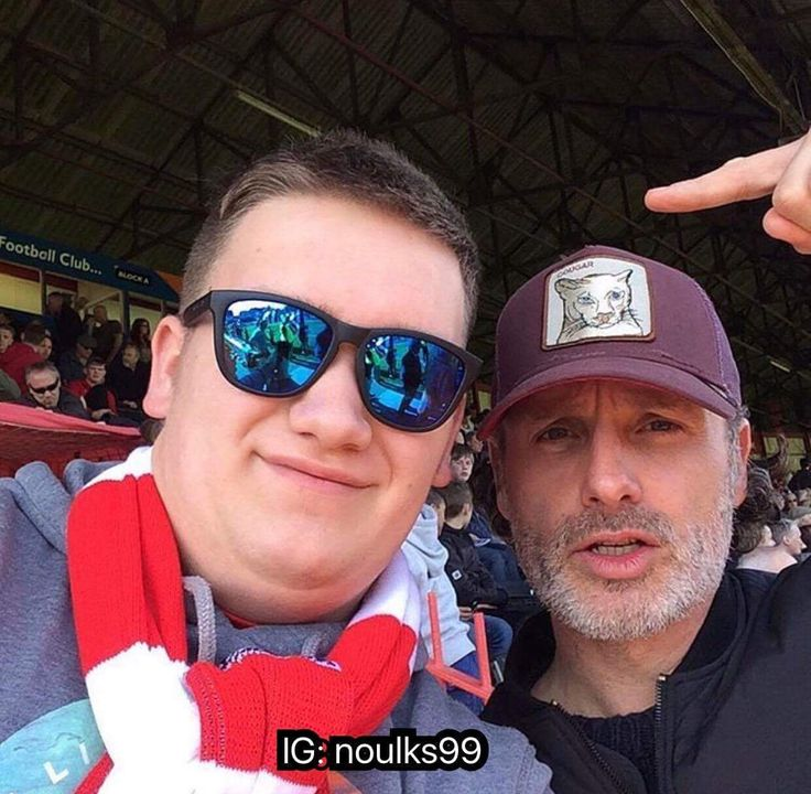 Andrew Lincoln & Fans Exeter City Match