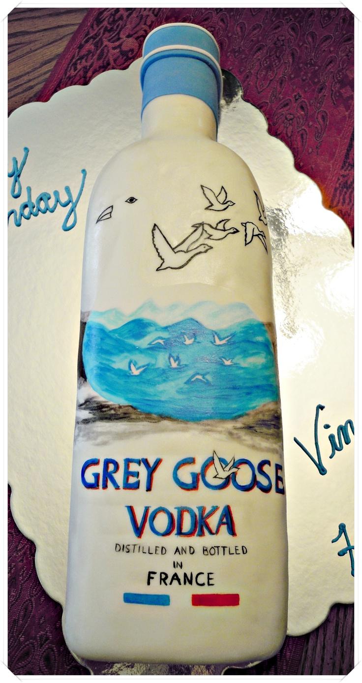 Grey Goose Vodka Cake