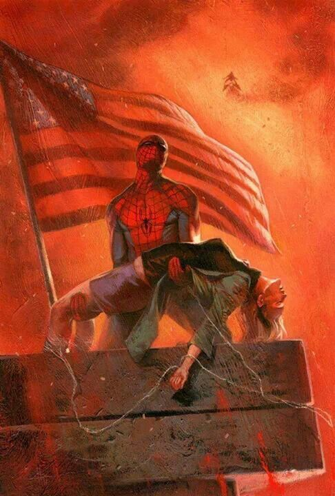 Spider-Man by Gabriele Dell'Otto... Oh man Gwen... Turning point in Spidey's life and in the history of comics itself.