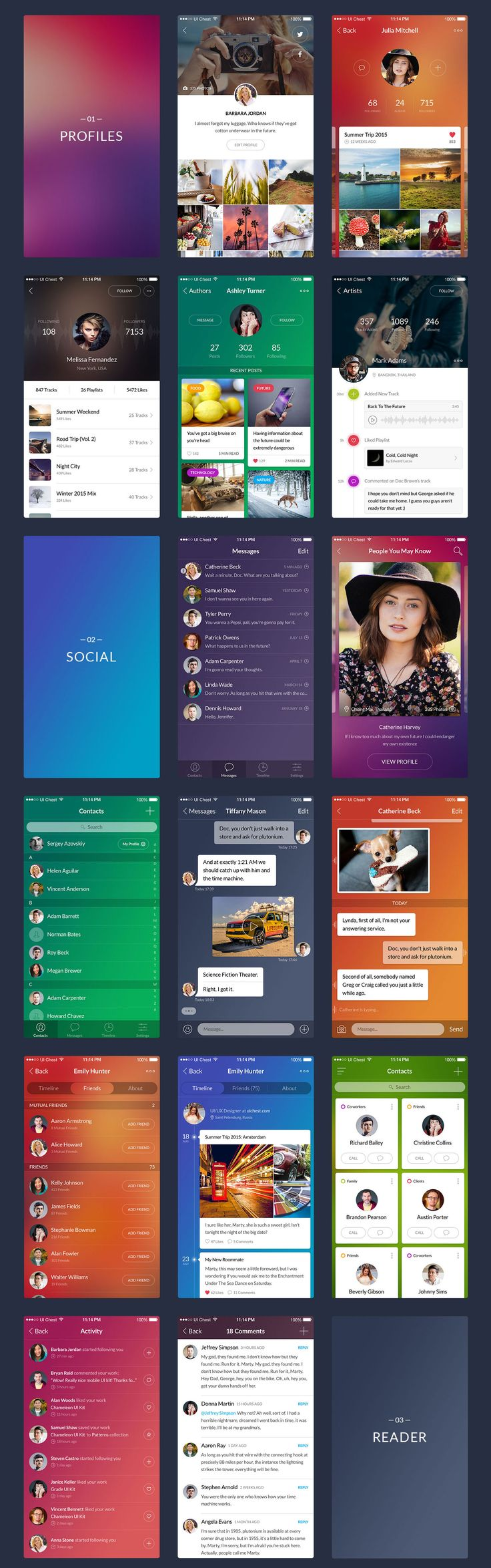 Chameleon is a premium mobile UI kit for Adobe Photoshop. With 100 beautiful…
